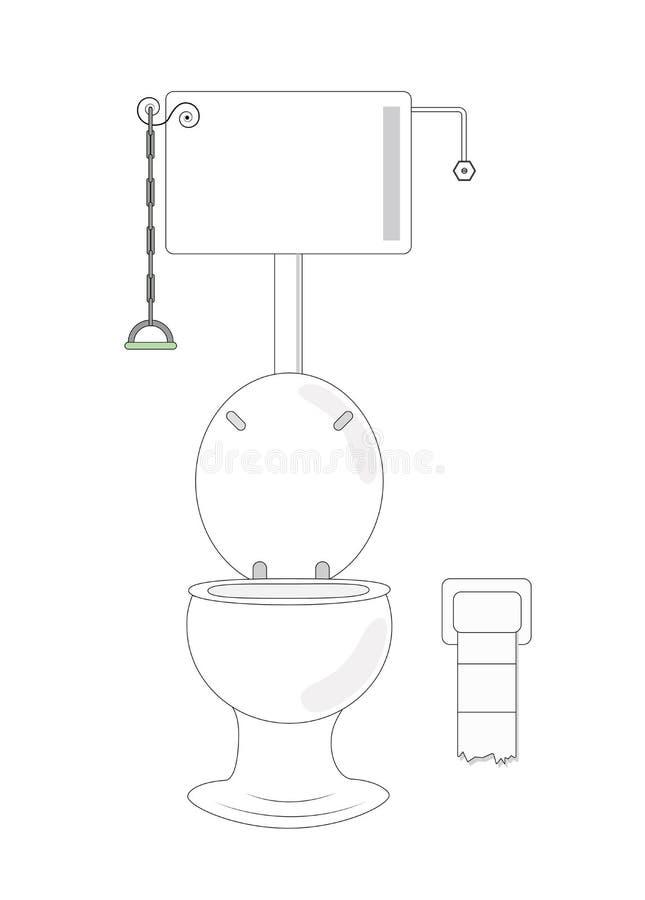 Śmieszna toaleta fotografia stock