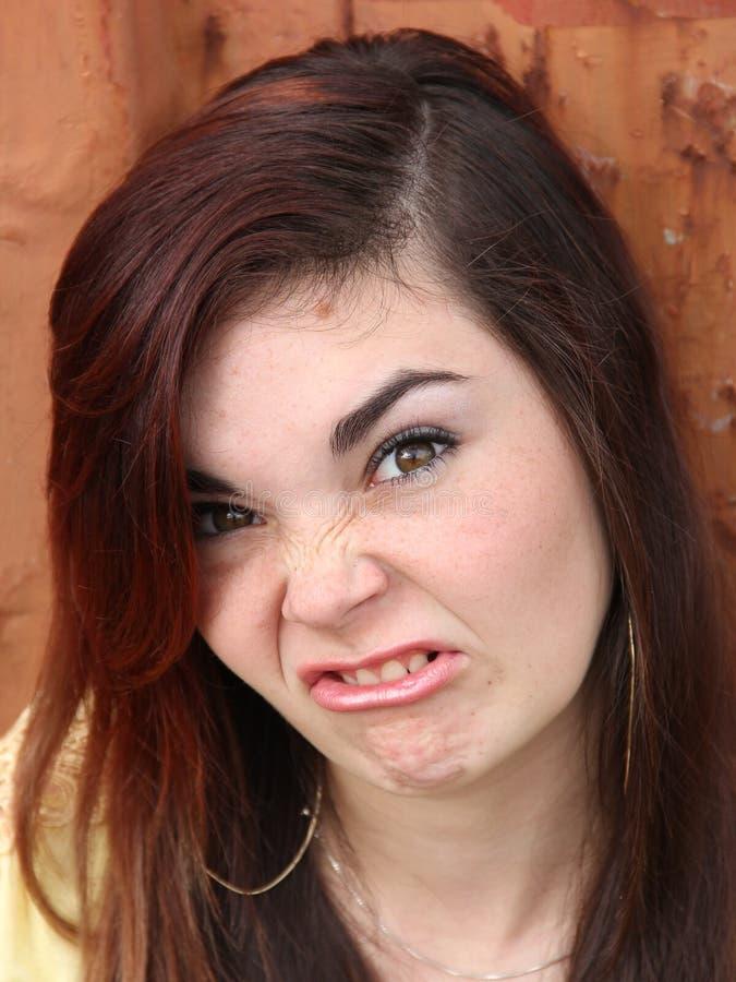 Śmieszna twarz Nastoletnia zdjęcia royalty free