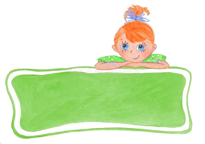 Śmieszna uśmiechnięta dziewczyna z łękami ilustracja wektor