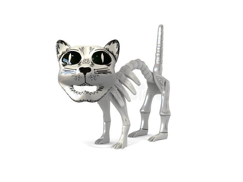 Śmieszna zredukowana kot pamiątka od Mexico 3d ilustraci odizolowywającej w bielu ilustracja wektor