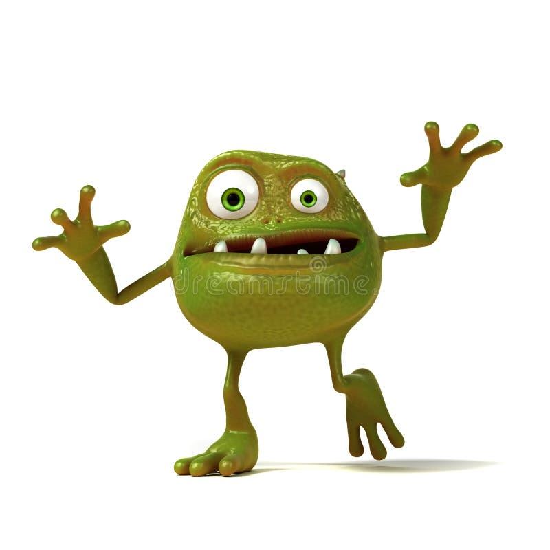 Śmieszne bakterie Toon ilustracji