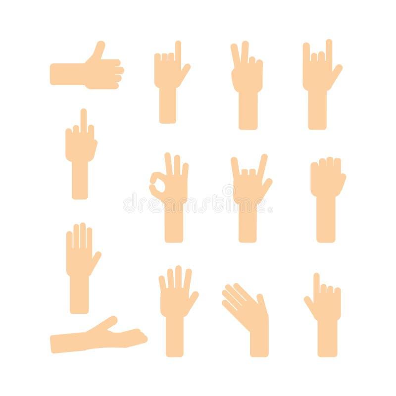 Śmieszne ręki ustawiać ilustracji