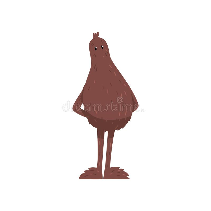 Śmiesznego życzliwego Bigfoot postać z kreskówki wektorowa ilustracja na białym tle royalty ilustracja