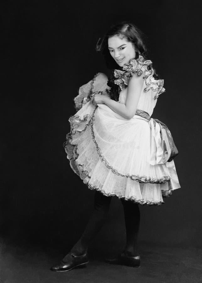 Śmiesznego rocznika młodej dziewczyny Retro portret zdjęcia stock
