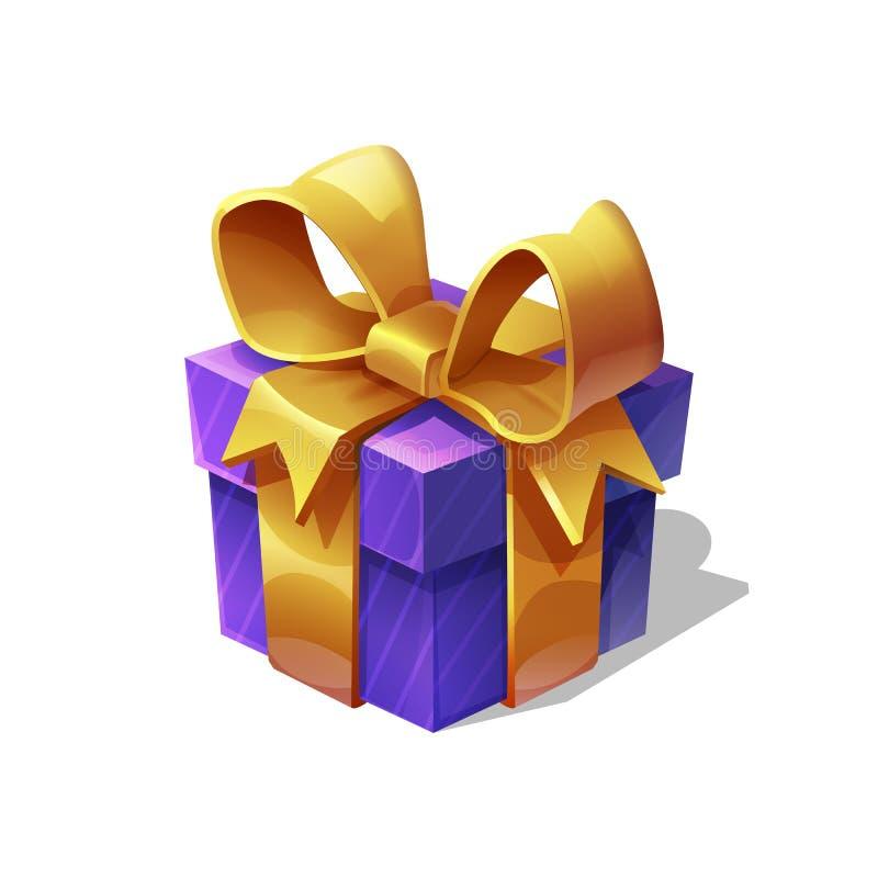 Śmiesznej kreskówki prezenta kolorowy boxe dla Wesoło bożych narodzeń i Szczęśliwego nowego roku również zwrócić corel ilustracji royalty ilustracja
