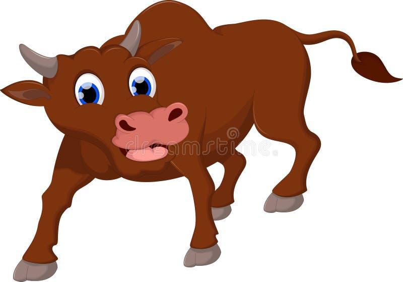 Śmiesznej krowa uśmiechu kreskówki biały tło dla ciebie projektuje ilustracja wektor