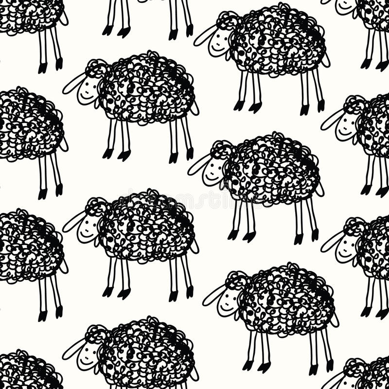 śmieszni deseniowi sheeps zdjęcia stock