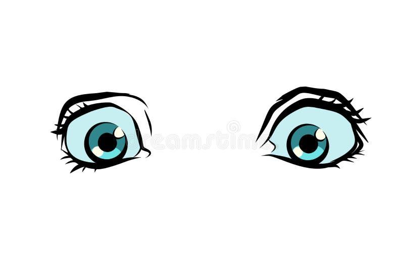 Śmieszni kreskówek oczy ilustracja wektor