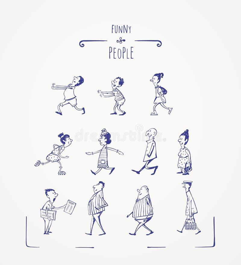 Śmieszni ludzie ilustracja wektor