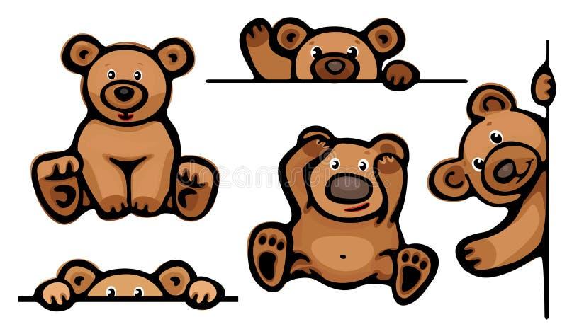 Śmieszni niedźwiedzie. royalty ilustracja