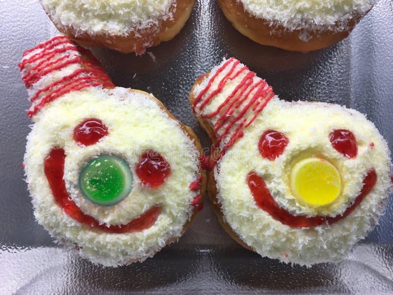 Śmieszni smiley błazenów torty zdjęcie stock