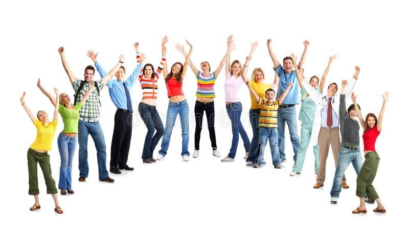śmieszni szczęśliwi ludzie zdjęcia stock