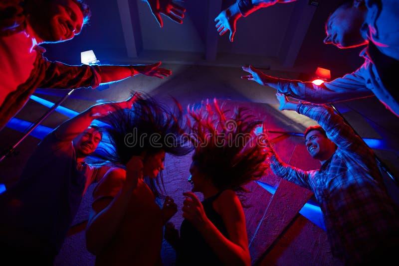 Śmieszni tancerze fotografia stock