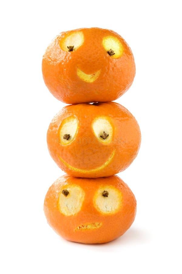 śmieszni tangerines obrazy royalty free