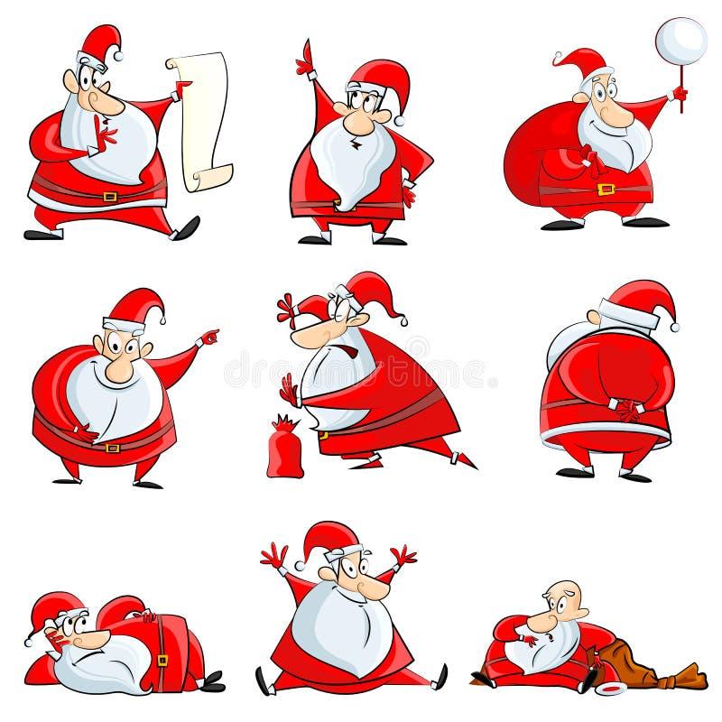 Śmieszny Święty Mikołaj royalty ilustracja