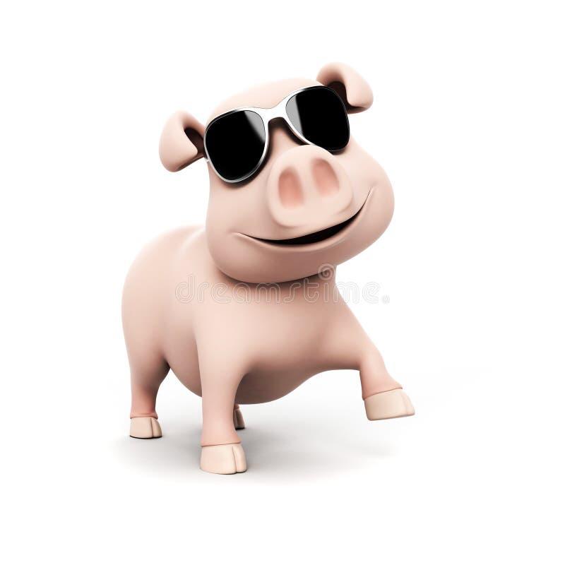 Download Śmieszny świniowaty Charakter Ilustracji - Ilustracja złożonej z smiling, farm: 28962908