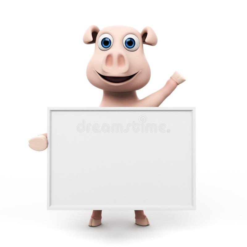 Download Śmieszny świniowaty Charakter Ilustracji - Ilustracja złożonej z ogon, rolnictwo: 28962913