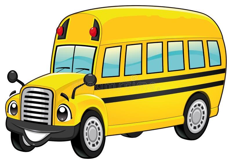 Śmieszny autobus szkolny. ilustracji