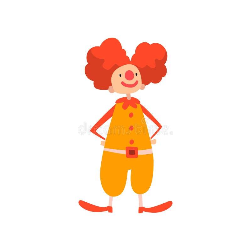 Śmieszny błazenu spełnianie w Cyrkowej przedstawienie kreskówki wektoru ilustracji ilustracji