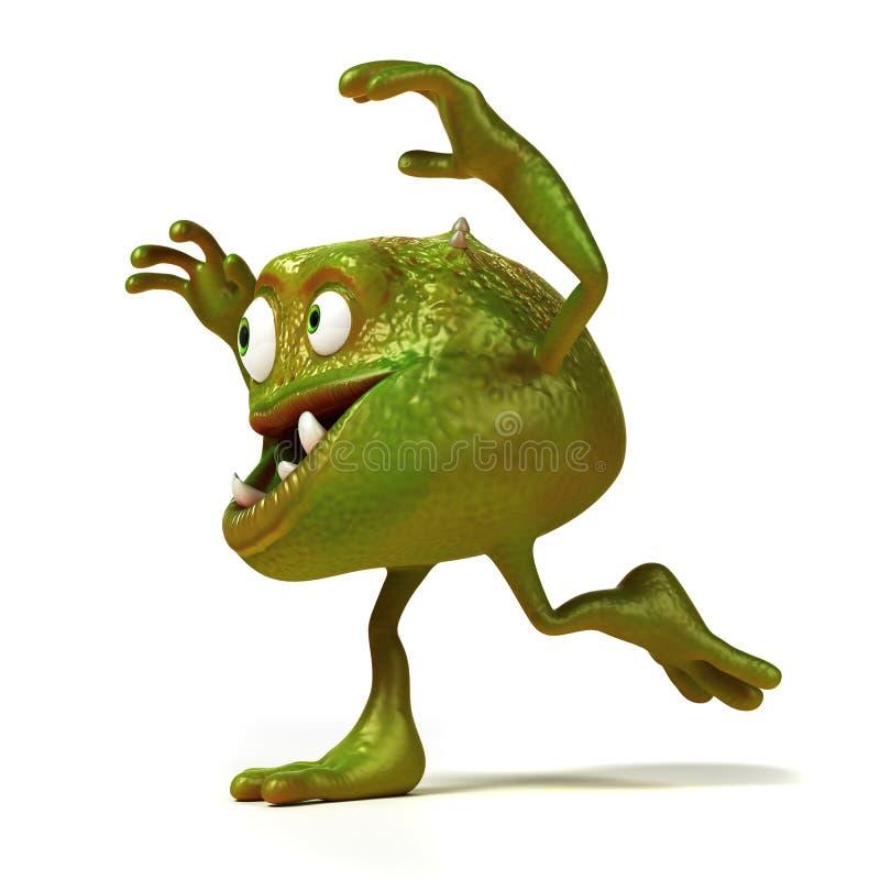 Śmieszny bakterii Toon charakter ilustracji