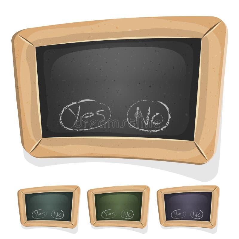 Śmieszny Blackboard znak Dla Ui gry royalty ilustracja