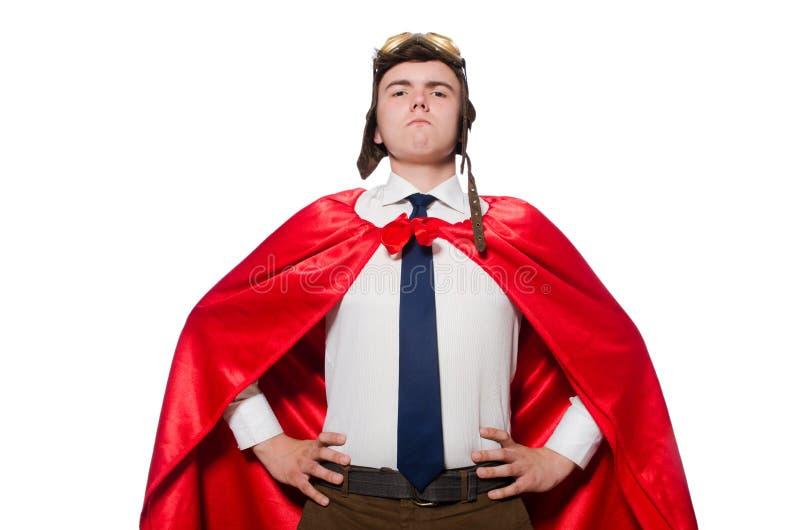 Śmieszny bohater odizolowywający zdjęcia royalty free