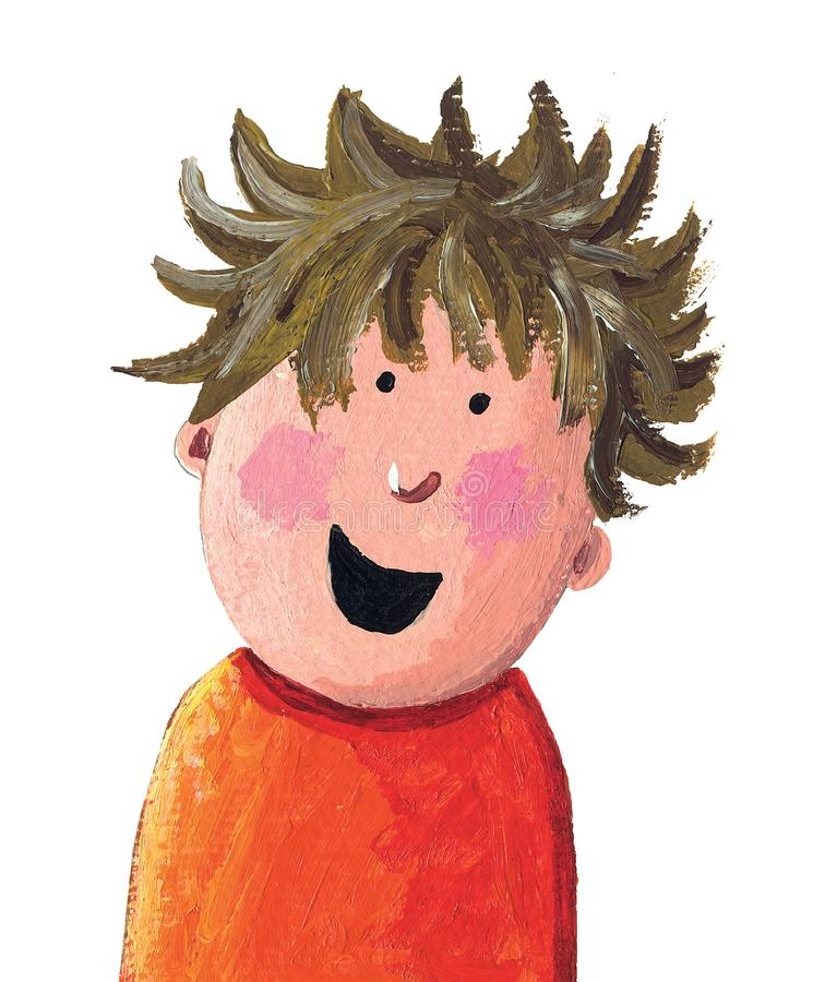Śmieszny chłopiec Śmiać się ilustracji