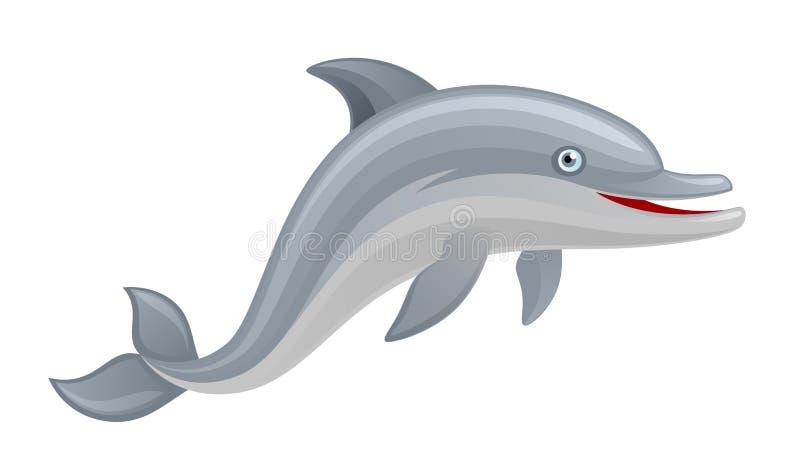 Śmieszny delfin royalty ilustracja