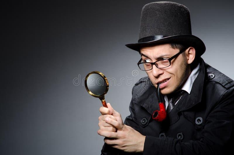 Śmieszny detektyw obrazy stock