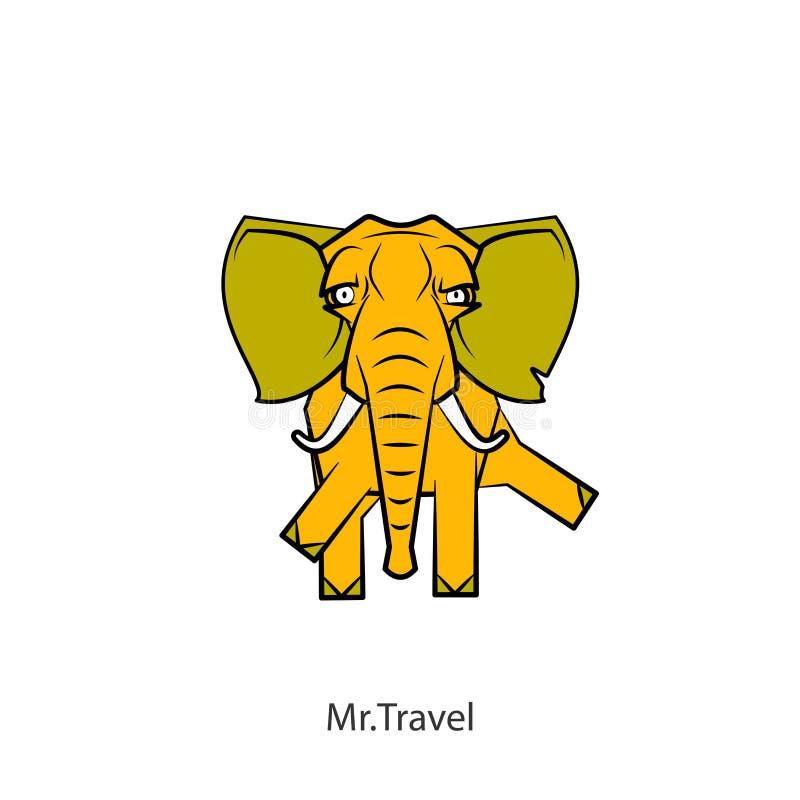 Śmieszny duży słonia kolor ilustracji