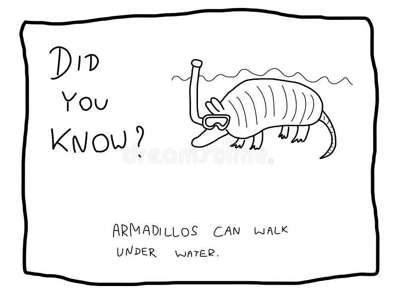 Śmieszny fact royalty ilustracja