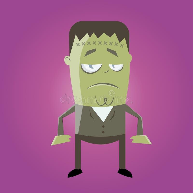 Śmieszny frankenstein potwór royalty ilustracja