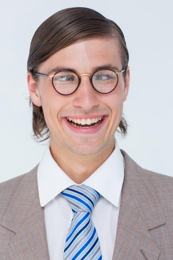 Śmieszny geeky biznesmen obraz royalty free