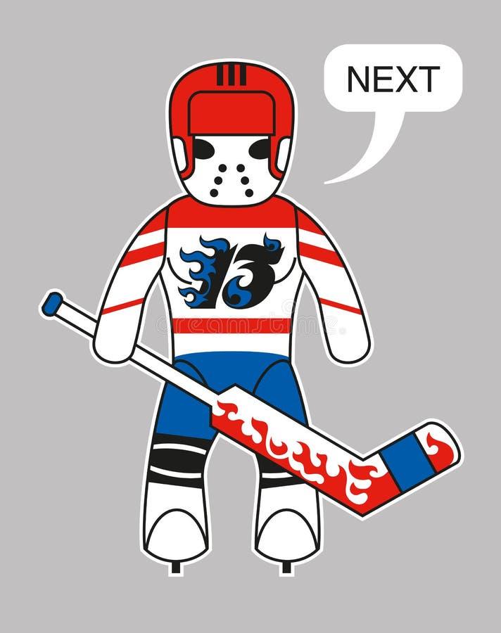 Śmieszny hokejowy bramkarz royalty ilustracja