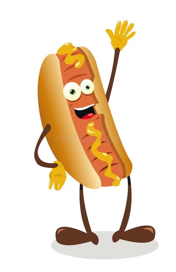 Śmieszny Hot Dog ilustracja wektor