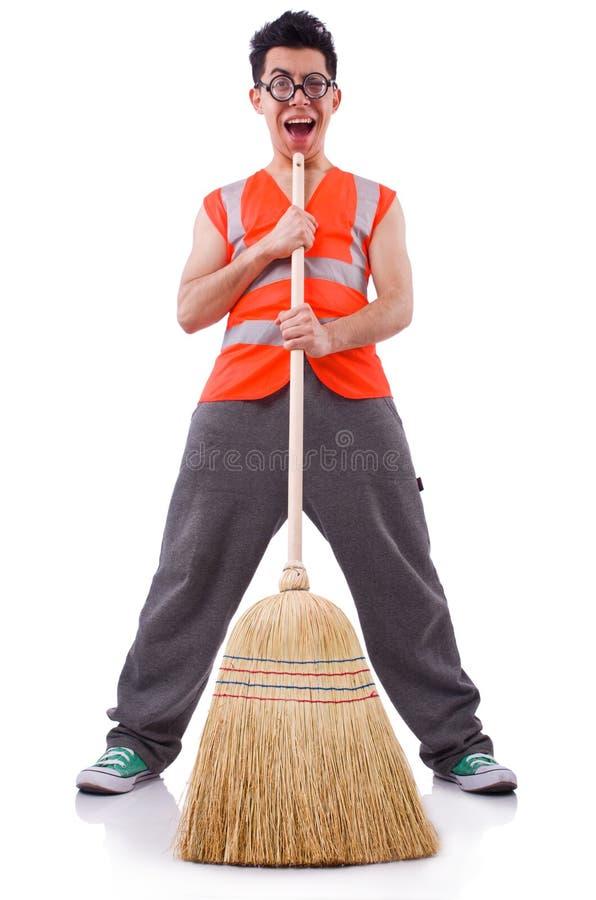 Śmieszny janitor fotografia stock