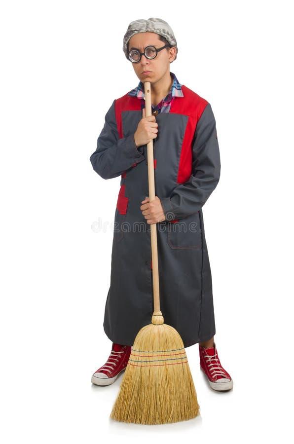śmieszny janitor obrazy stock