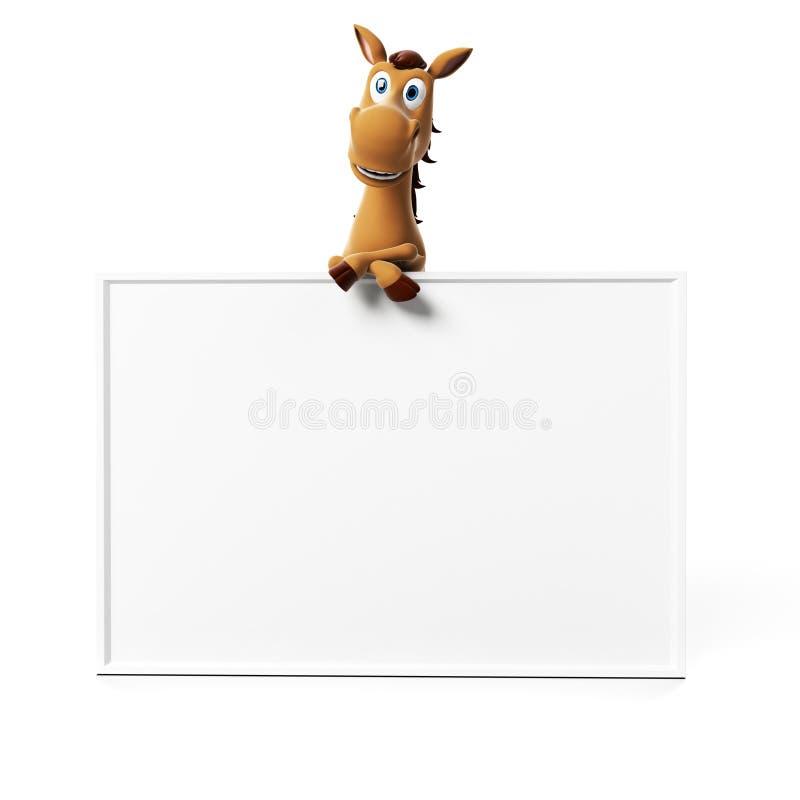 Download Śmieszny koński charakter ilustracji. Ilustracja złożonej z zęby - 28963380