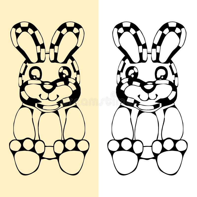 Śmieszny królik sylwetki rysunek ilustracja wektor