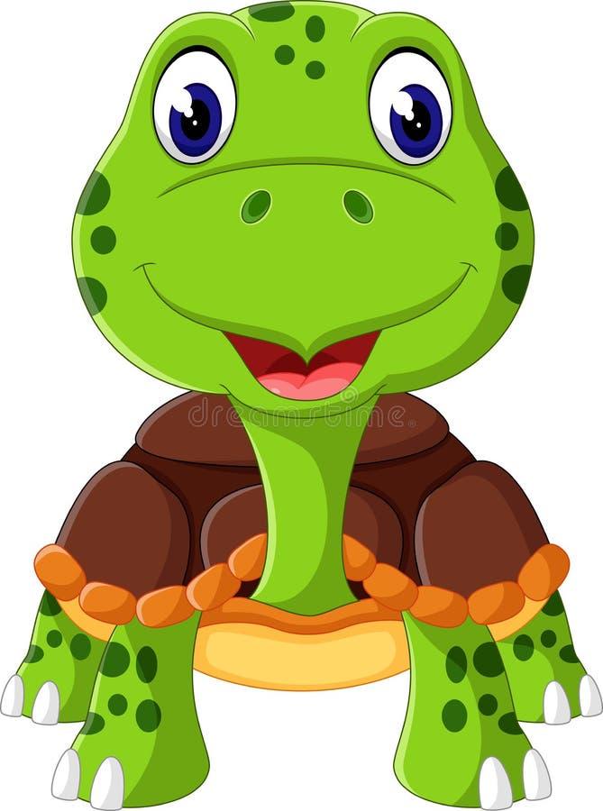śmieszny kreskówka żółw ilustracji