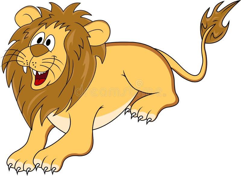 śmieszny kreskówka lew ilustracja wektor