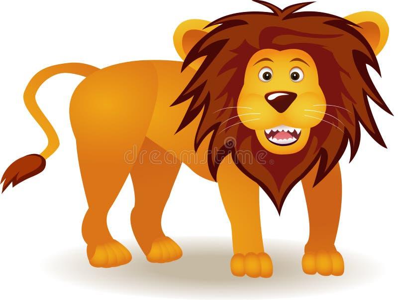 śmieszny kreskówka lew ilustracji