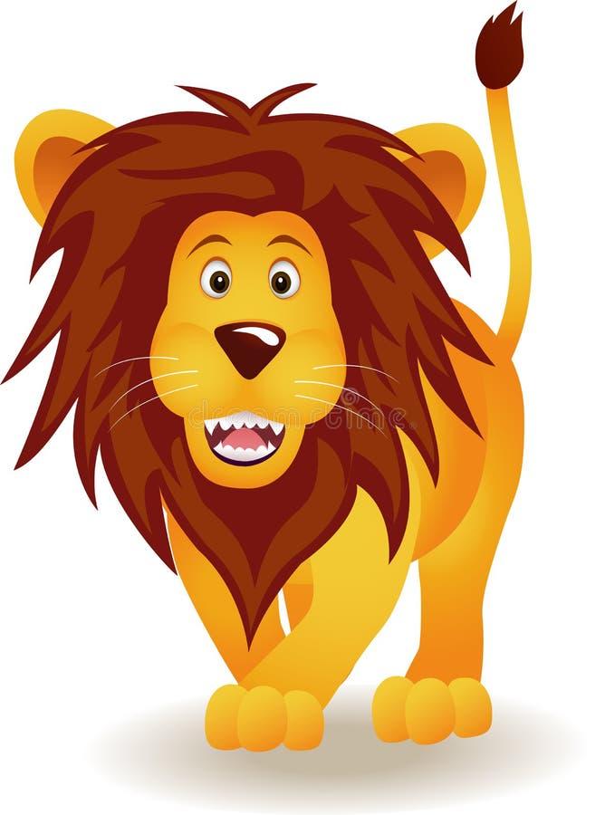 śmieszny kreskówka lew royalty ilustracja