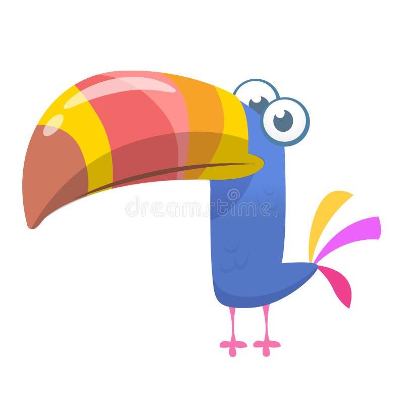 Śmieszny kreskówka pieprzojada ptak Wektorowa ilustracja ślicznego pieprzojada tropikalny ptak ilustracji