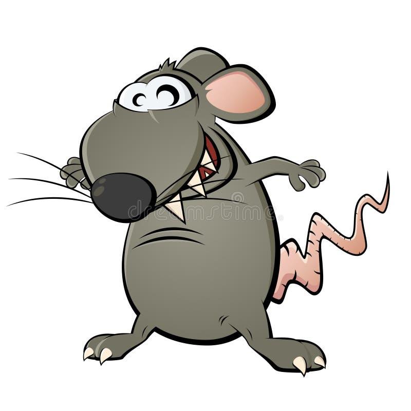 śmieszny kreskówka szczur ilustracji
