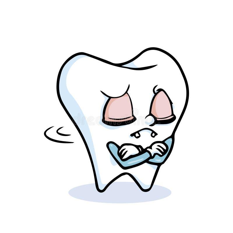 Śmieszny kreskówka ząb royalty ilustracja