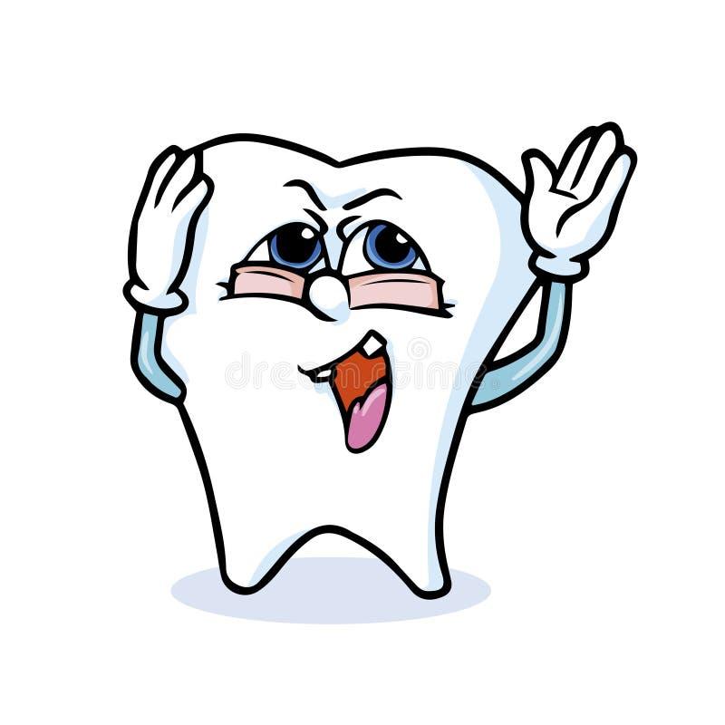 Śmieszny kreskówka ząb ilustracja wektor