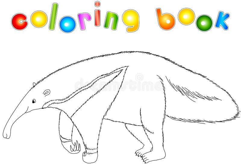 Śmieszny kreskówka zjadacz Kolorystyki książka dla dzieciaków ilustracja wektor