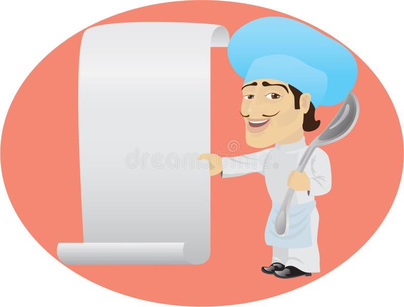 Śmieszny kucharz ilustracji