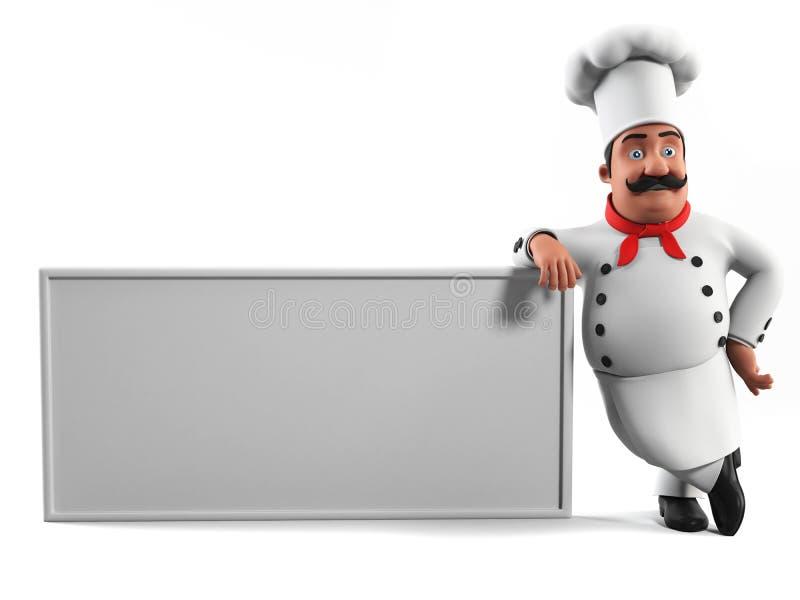 Śmieszny kuchenny szef kuchni ilustracji